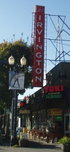 Irvington sign, Portland, Oregon